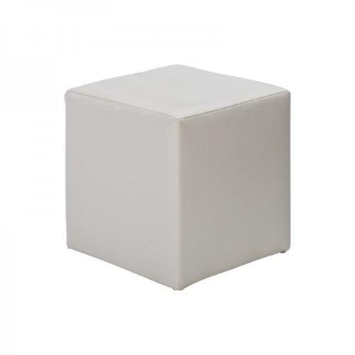 Fabulous White Cube Seat Ottoman Creativecarmelina Interior Chair Design Creativecarmelinacom