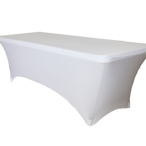 White Cocktail Table Spandex 36u201d (LED Glow Table)
