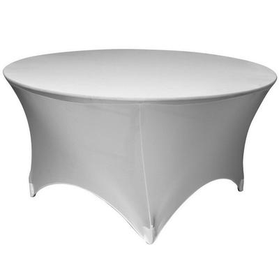 White Table Spandex Round 72u201d